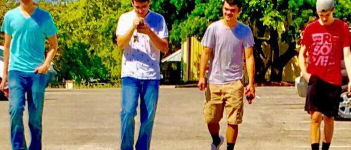 Crosstimbers Academy Students Walking Together